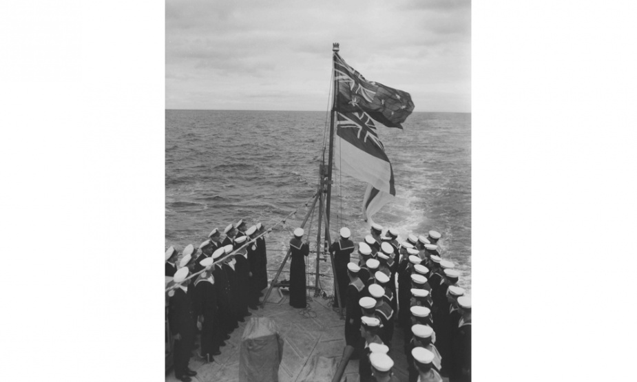 Anzac is officially handed over to the RAN by Williamstown dockyard. The ceremony took place at sea on 22 March 1951 and was marked with the hauling down of the Red Ensign and the raising of the White Ensign.
