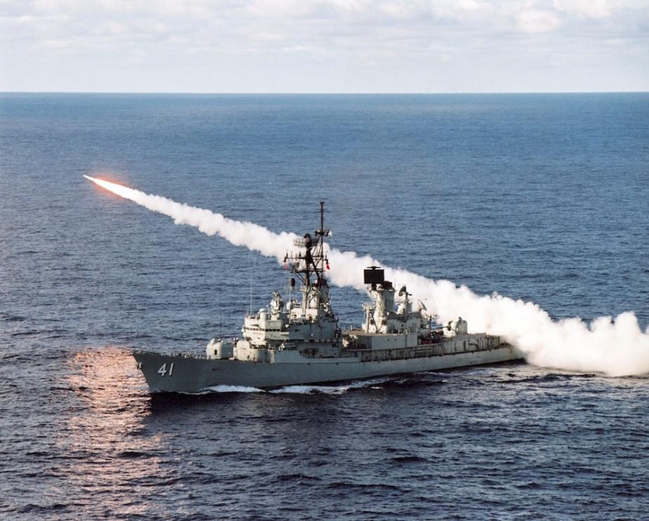 HMAS Brisbane firing Standard Missile.