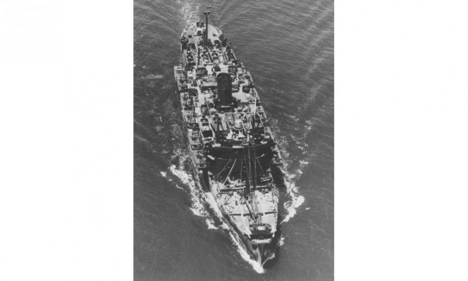 HMAS Westralia at sea.
