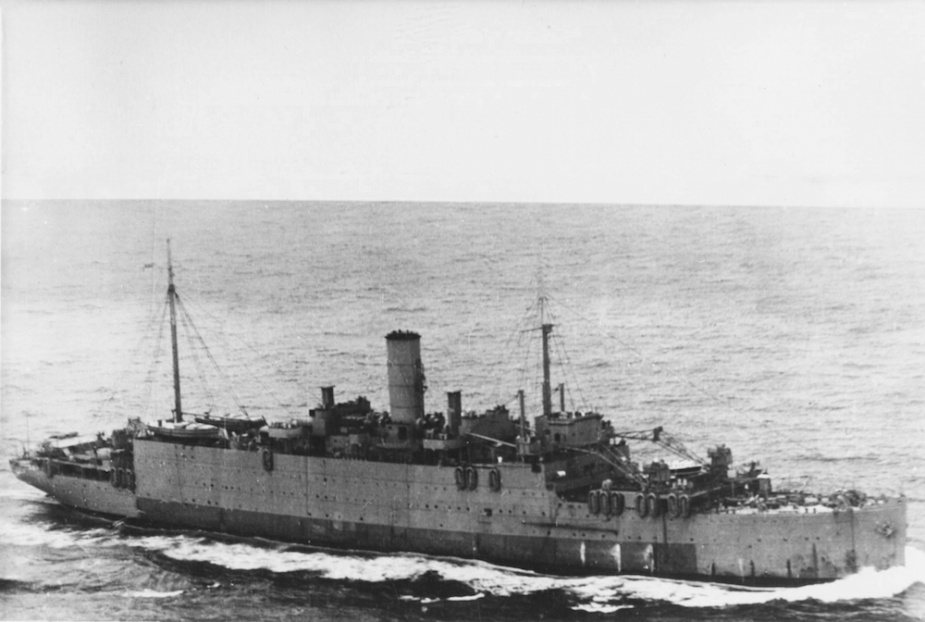 The heavy repair ship HMS Artifex was initially deployed to Manus in the Admiralty Islands, from where she supported ships of Task Force 57