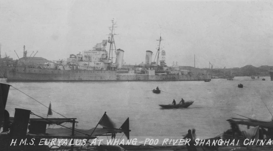 The Dido class cruiser HMS Euryalus.