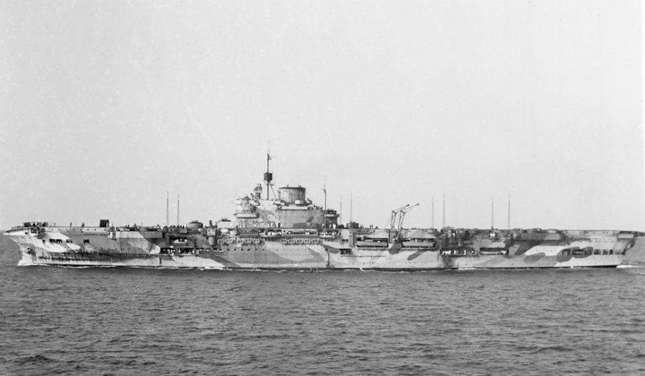 HMS Indomitable, Flagship Aircraft Carrier Squadron 1