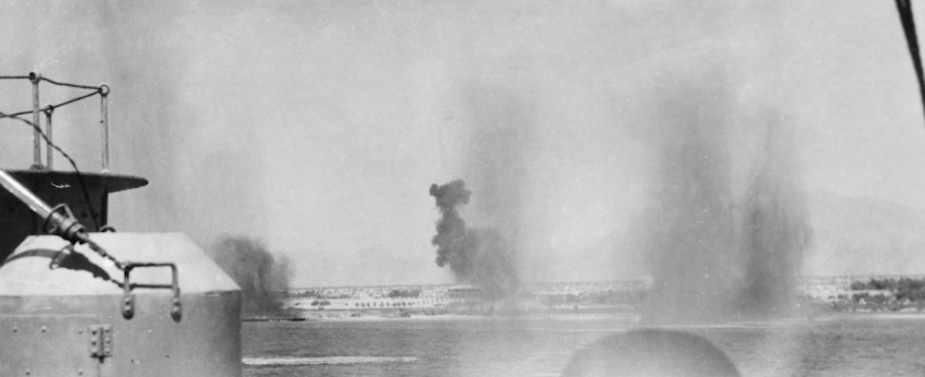 Hobart under aerial attack during the evacuation of Berbera.