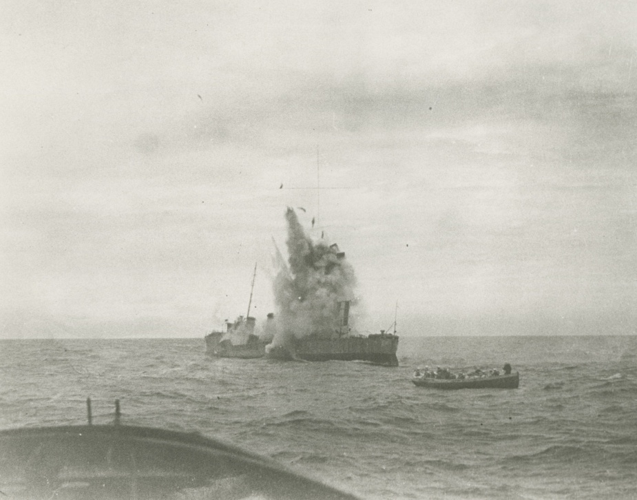 HMAS Huon was sunk by gunfire as a target off Sydney on 10 April 1931