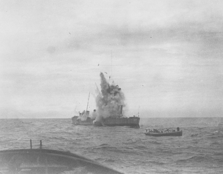 HMAS Huon was sunk by gunfire as a target off Sydney on 10 April 1931.