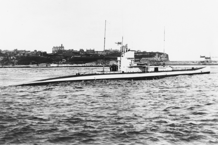 J7 while in service of th Royal Navy.
