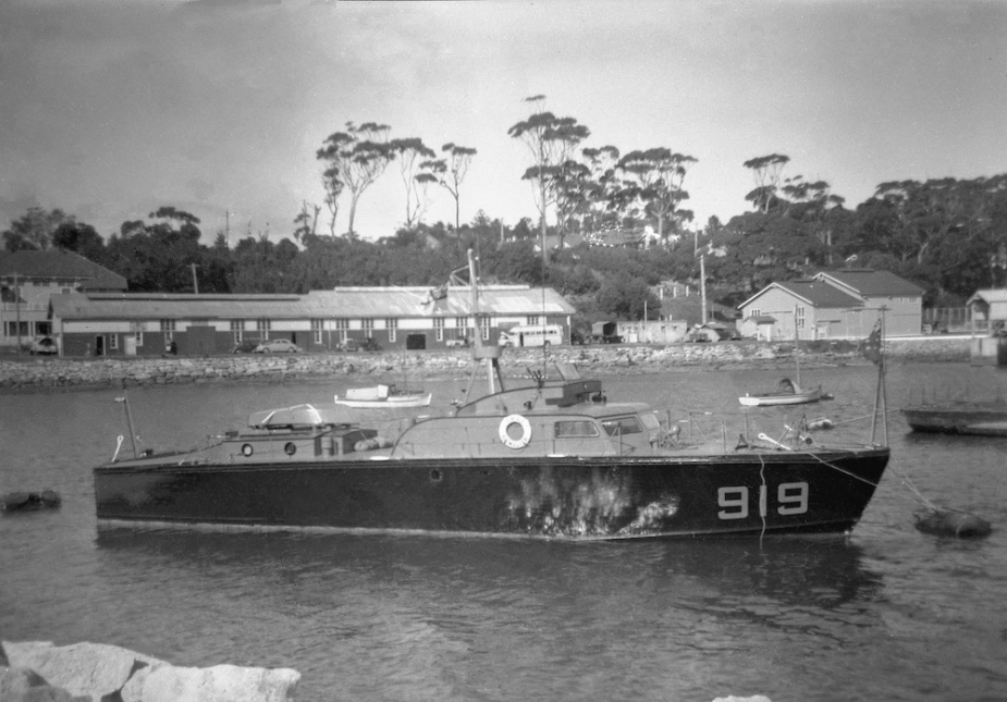 Air Master in boat compound, HMAS Creswell, Jervis Bay (John Jeremy Collection)
