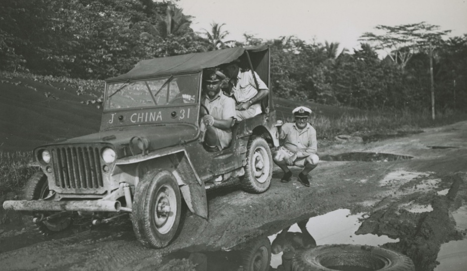 Roads on the island were often impassable in the early 1950s and Jeeps proved a popular form of transport.