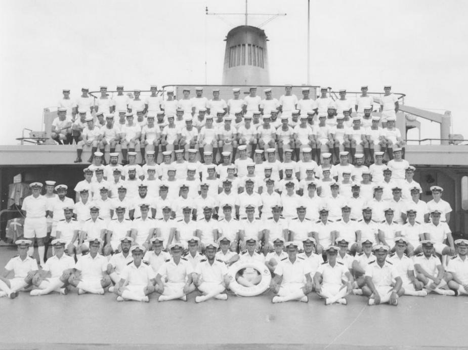 HMAS Jervis Bay's ship's company, circa 1977.