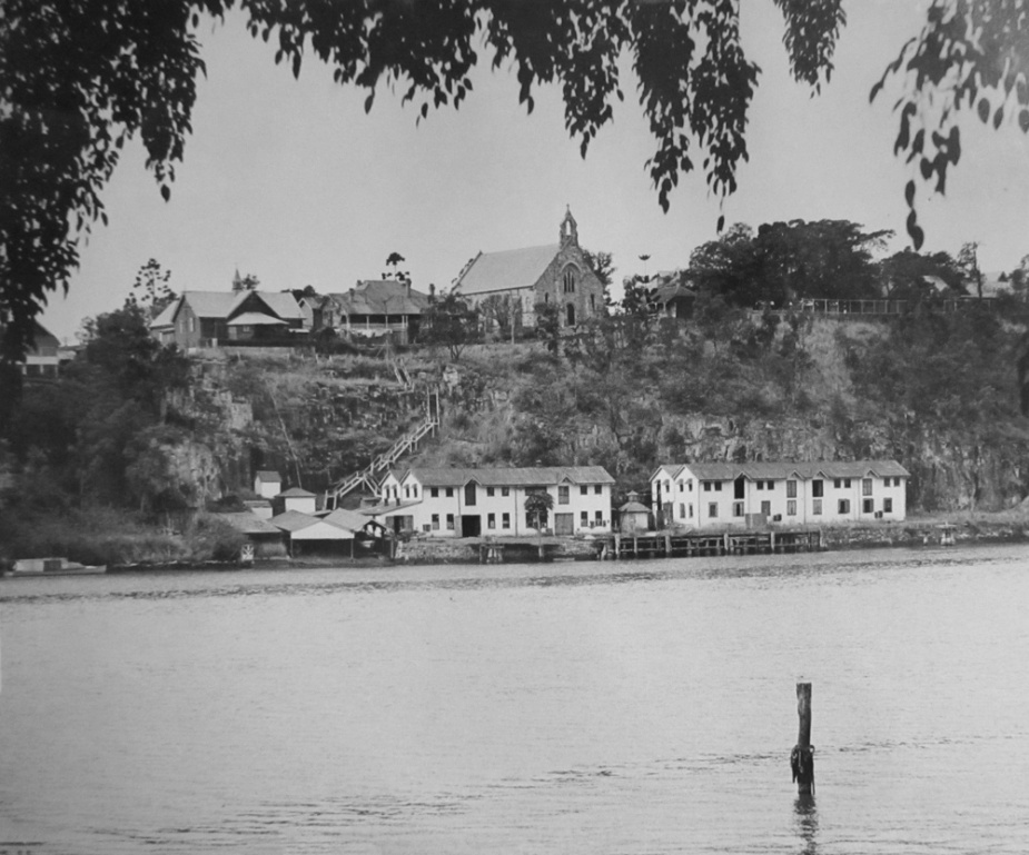 The Kangaroo Point facility with the steps visible in the background.
