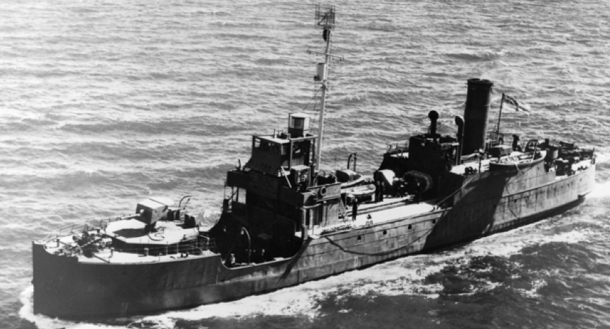 HMAS Kybra at sea 12 April 1943