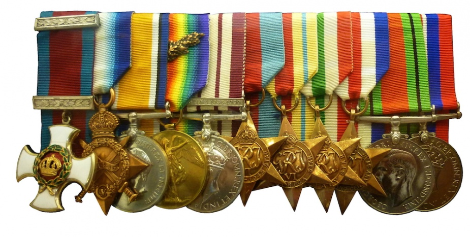 Lieutenant Commander Stoker's medal group, now on display in the Naval Heritage Collection in Sydney.