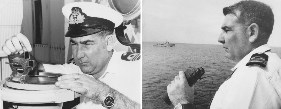 LCDR RJ Burns, GM, RAN, was both Teal's Commanding Officer in 1972 and also of the Commander of the First Mine Countermeasures Squadron.