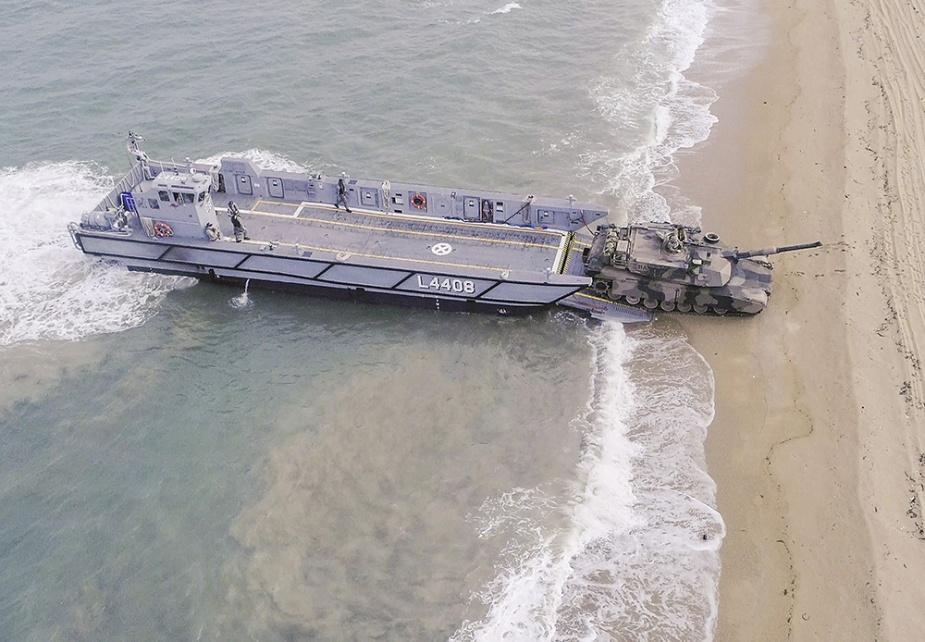 Royal Australian Navy Light Landing Craft load trials.