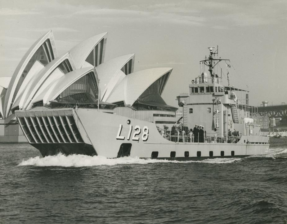 HMAS Labuan in Sydney, November 1977