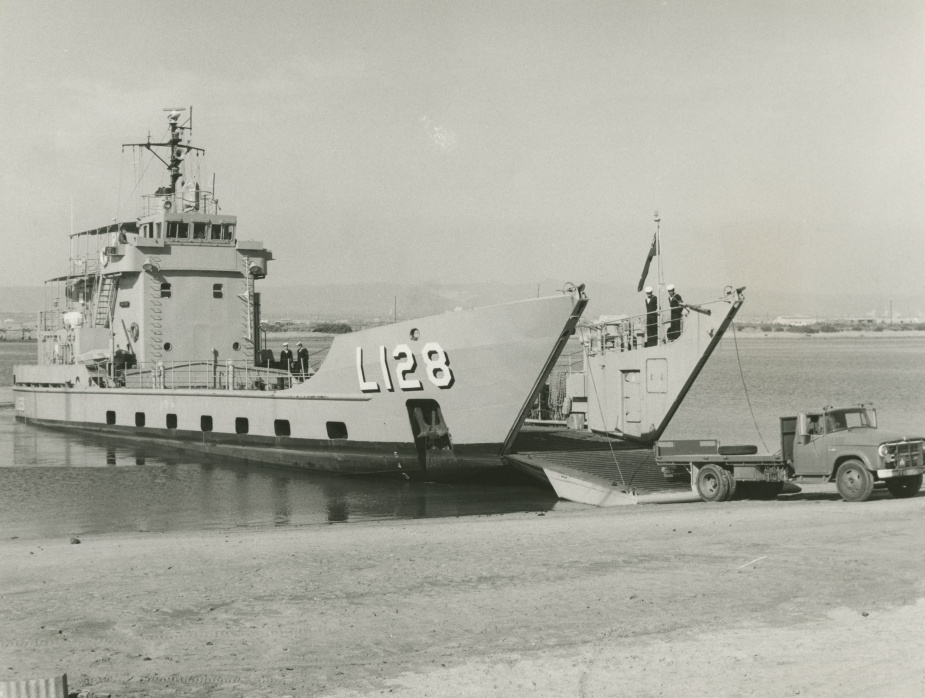 HMAS Labuan beached c.1978