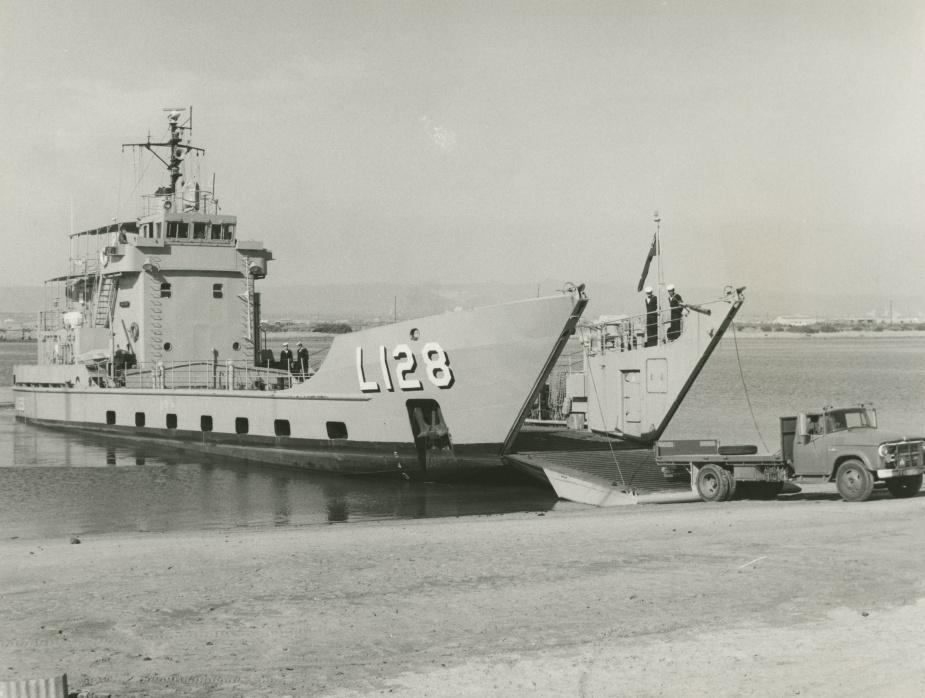 HMAS Labuan beached c.1978