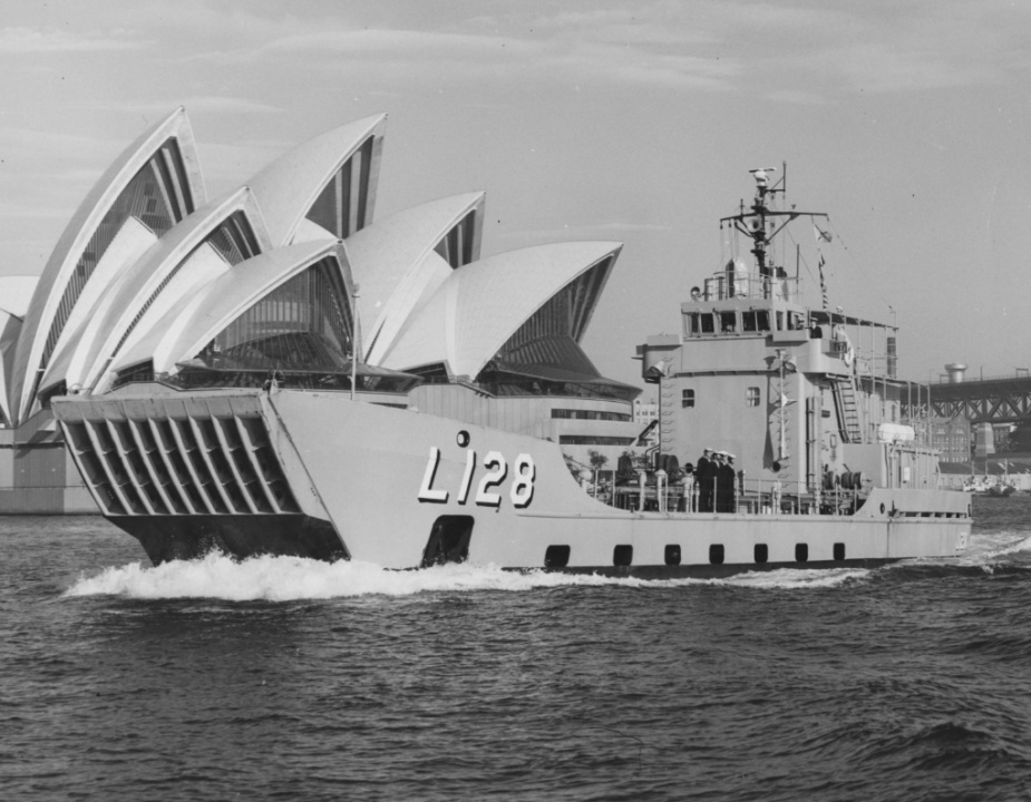 HMAS Labuan in Sydney, November 1977.