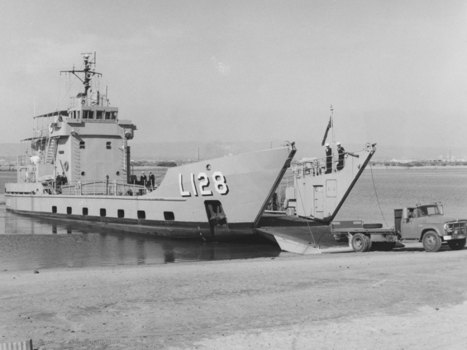 HMAS Labuan beached, circa 1978.