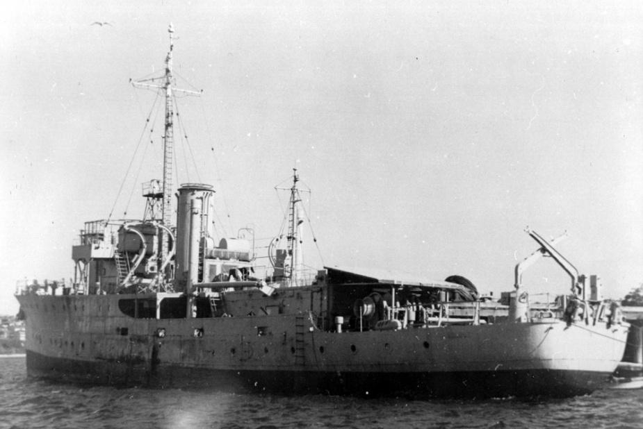HMAS Ararat laid up post WWII