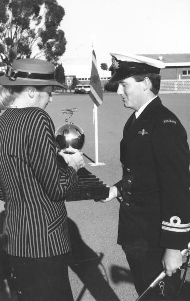 1984 Winner Lieutenant CJ Gaudie, RAN