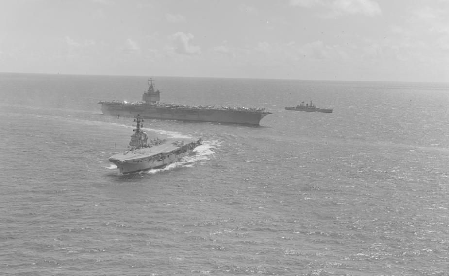 HMAS Melbourne and USS Enterprise during RIMPAC 1978.