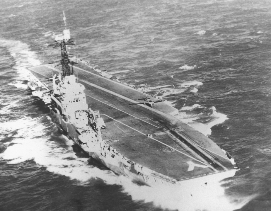 Melbourne undergoing trials at Barrow-in-Furness, England 1956.
