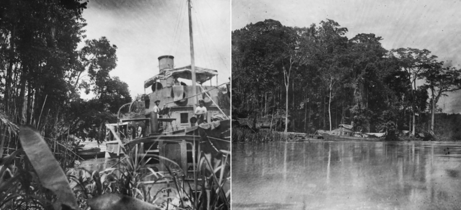 HMAS Nusa was used to patrol the Sepik river in German New Guinea. December 1914. (AWM collection)