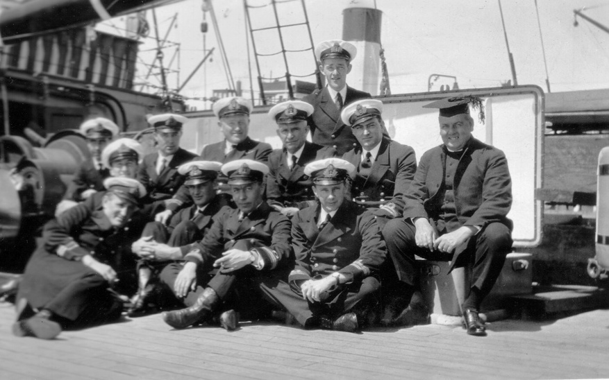Some of HMAS Platypus' crew members in October 1926