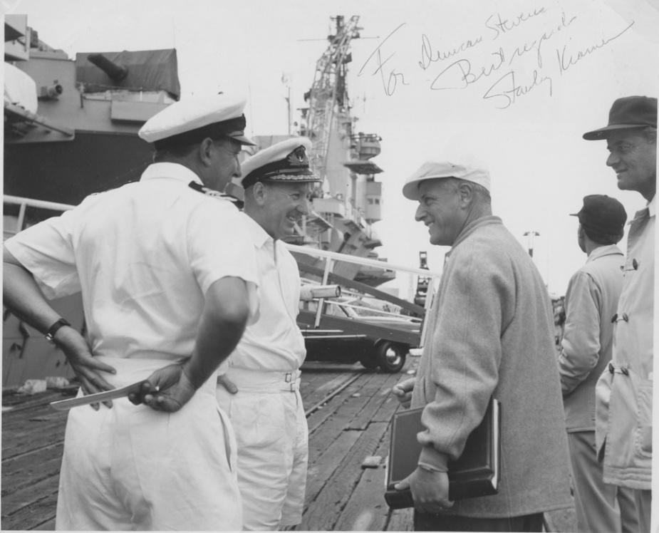 A photograph signed by Stanley Kramer, the director of On The Beach to Melbourne's Executive Officer Commander Duncan Stevens.