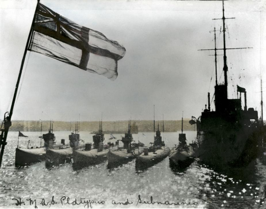 HMAS Platypus with the J Class Submarines