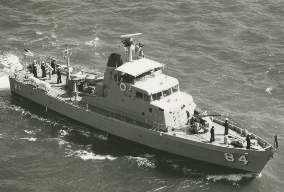 HMPNGS Aitape following her transfer to the Papua New Guinea Defence Force Maritime Element in November 1974.