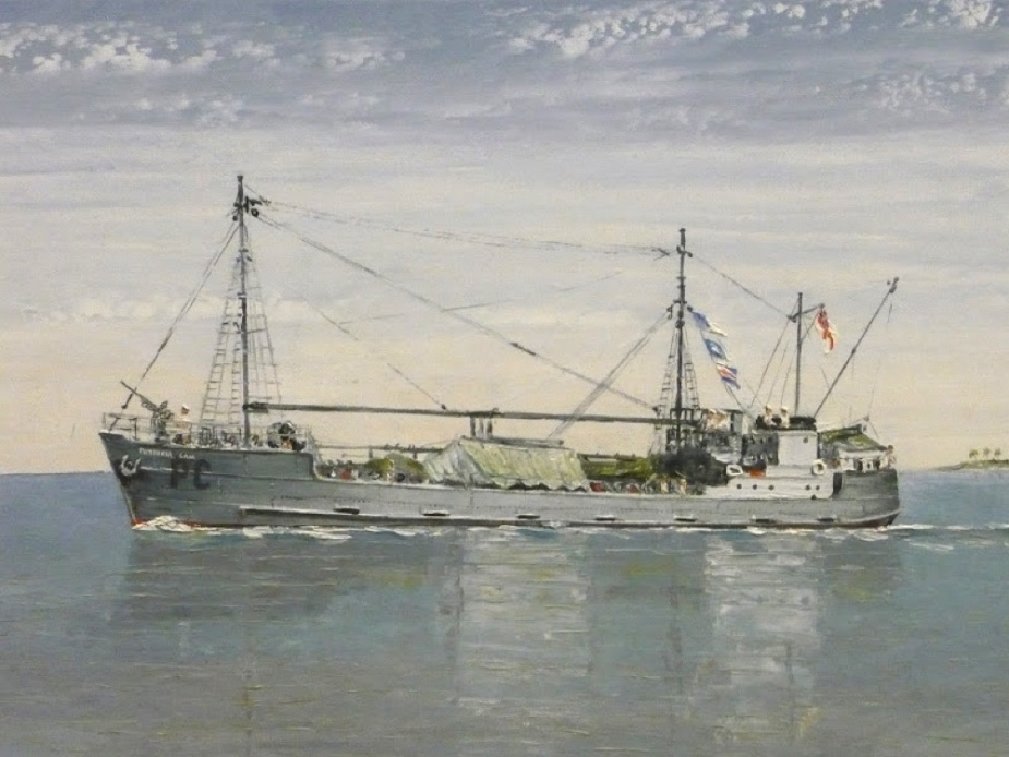 A painting of the ill fated Patricia Cam by Commodore DHD Smyth, AO, RAN