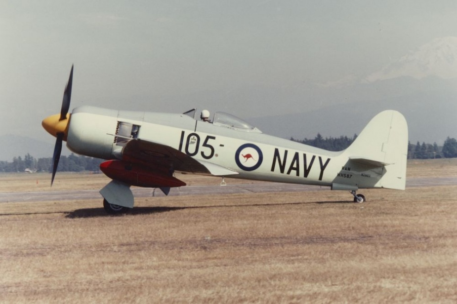 This former RAN Sea Fury has most recently been used as a racing aircraft in the United States.