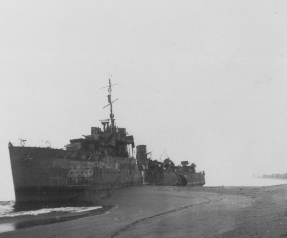 HMAS Voyager (I) aground at Betano Bay
