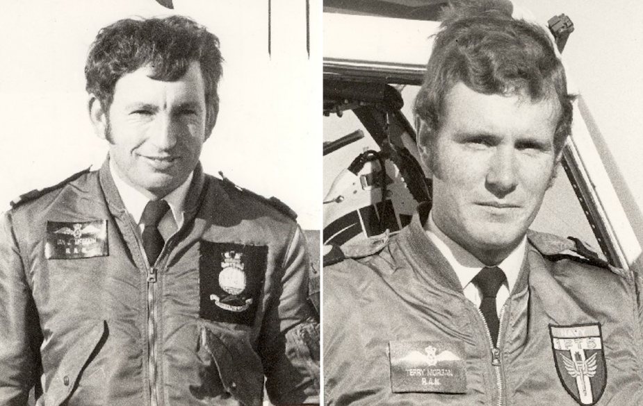 Sub Lieutenants Ian McBeath and Terry Morgan were involved in rescue operations during the 1974 Shoalhaven floods.