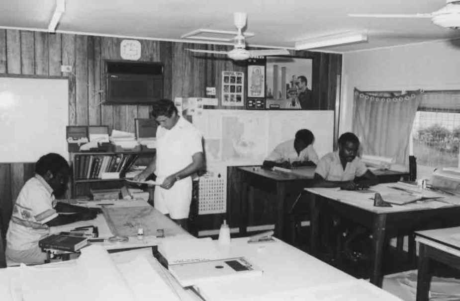 CPOSR Walker and Paul Teferomu and staff, SIHU Office 1983.
