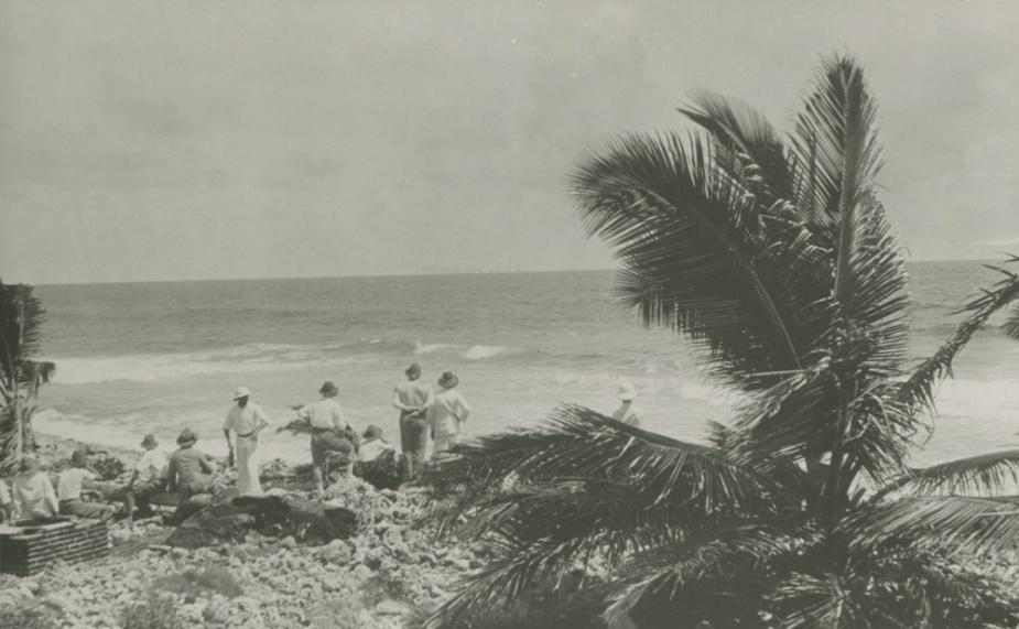 The sea battle was watched intently by the Cocos Islanders