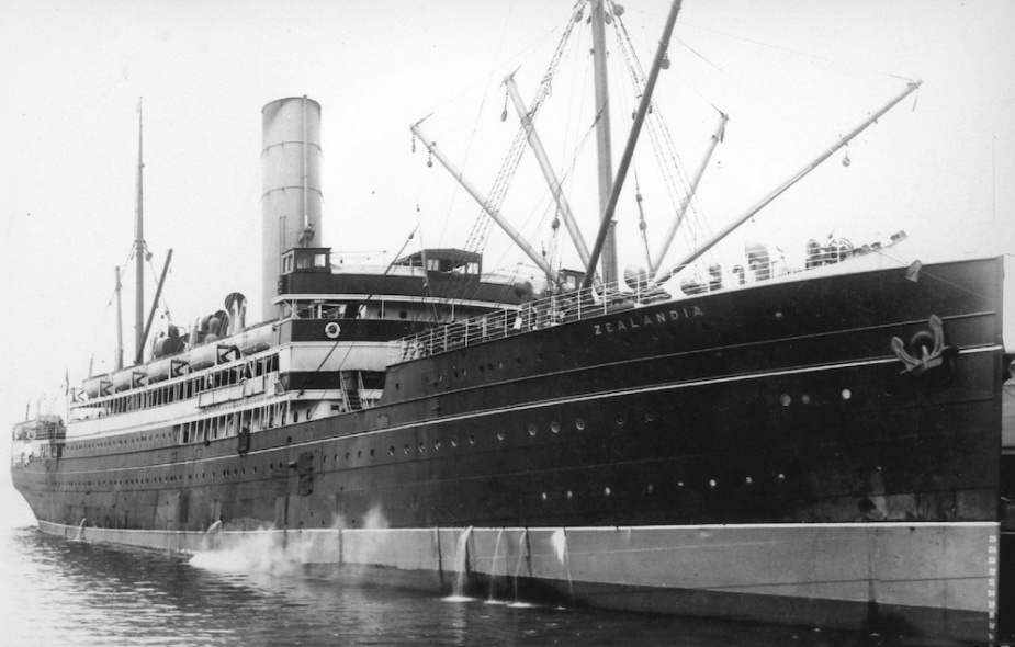 The troopship Zealandia which Sydney was tasked with escorting to the Sunda Strait