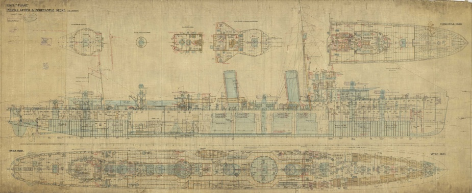 HMAS Stuart, Profile Upper and Forecastle Decks