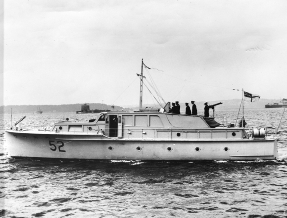 At her commissioning in June 1941, Silver Cloud's Commanding Officer, Lieutenant Richard Breydon, RANR, was appointed Commander of the fleet of Channel Patrol Boats, known as the Hollywood Fleet.