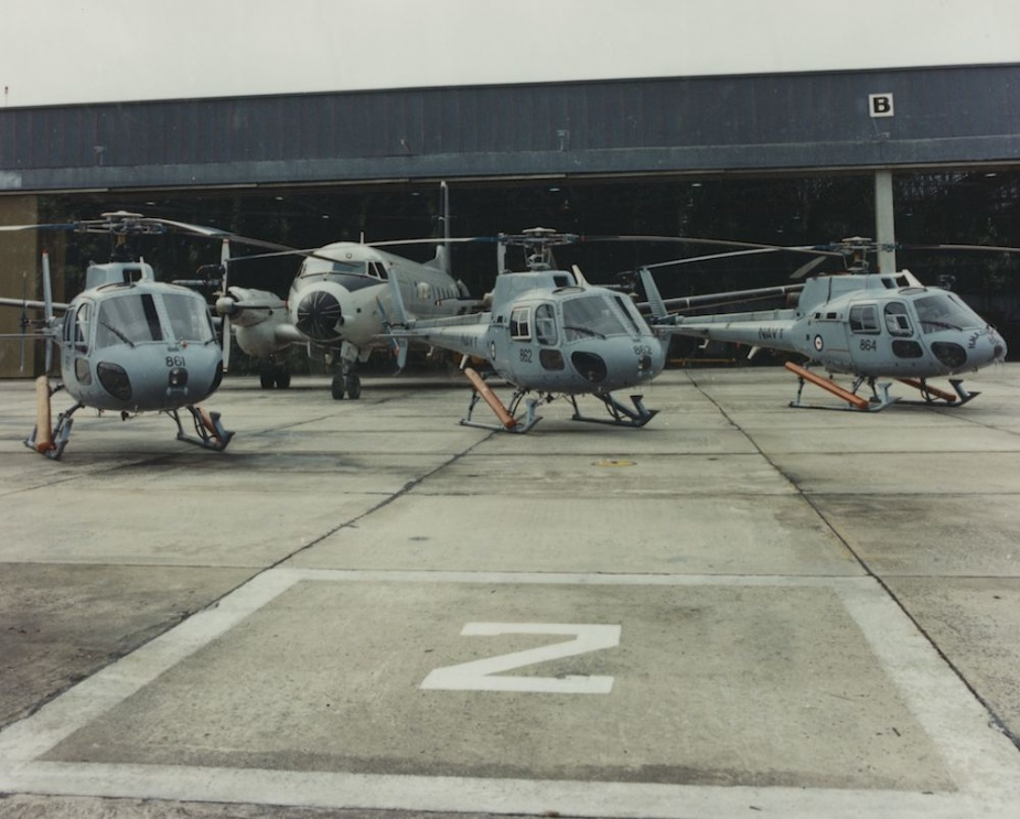 723 Squadron's Squirrel Helicopters and HS748 at NAS Nowra.