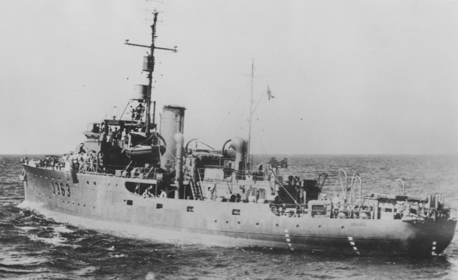 A stern view of Strahan, 1944.