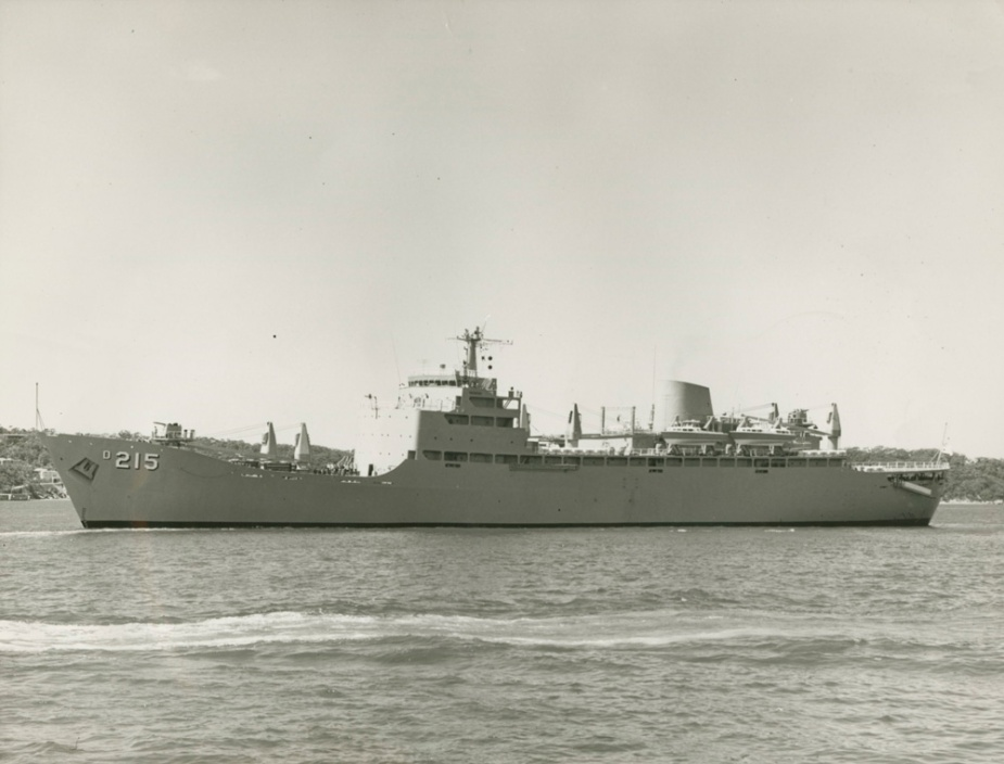 Stalwart leaving Sydney Harbour, February 1969
