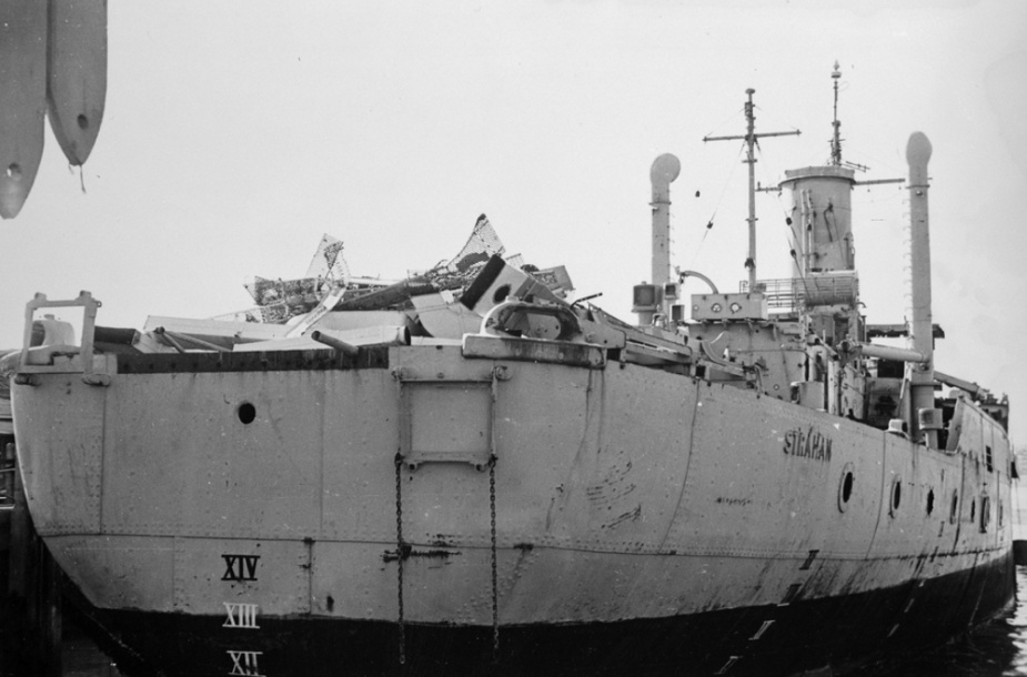Strahan shortly before her final disposal in 1961.