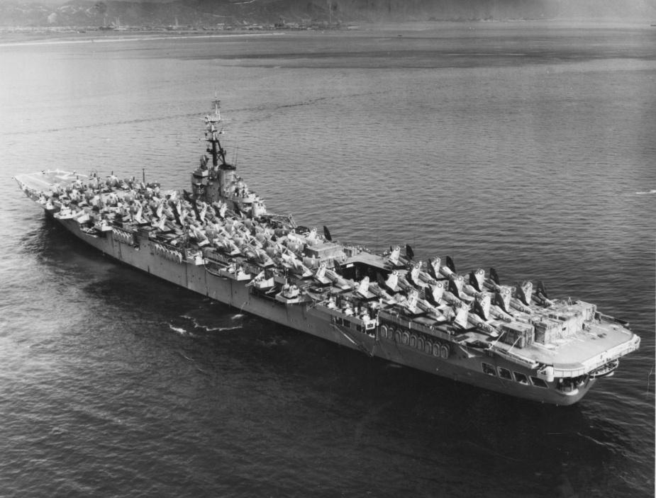 HMAS Sydney (III) entering Hong Kong, 1954.