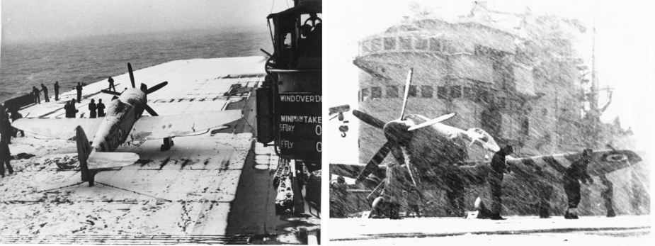 Sydney's crew were not prepared for the intensity of the Korean winter which temporarily suspended flying operations.