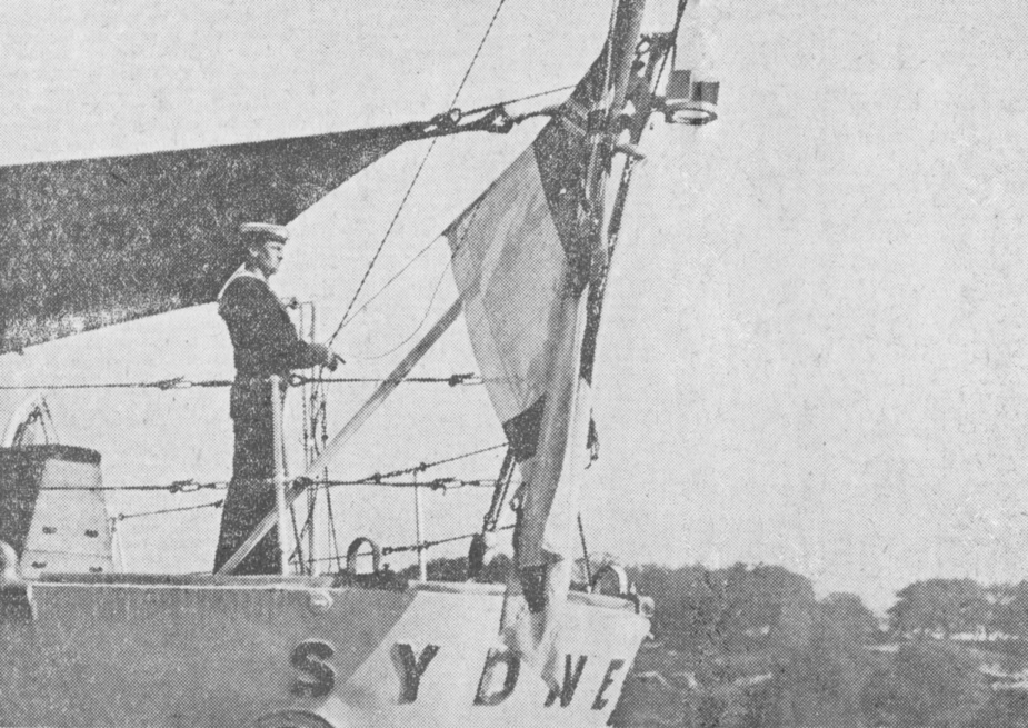 Noon on 8 May 1928 saw Sydney's white ensign lowered for the final time.