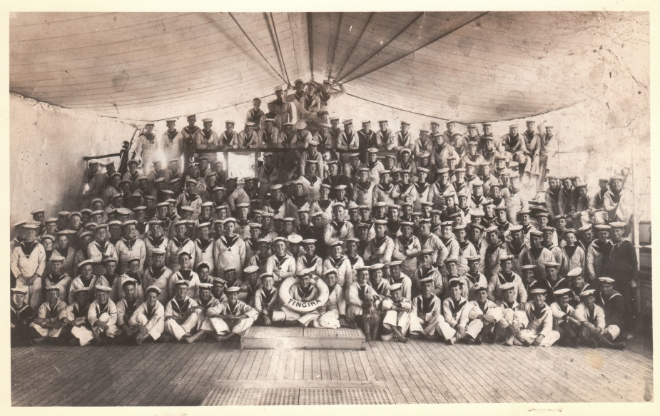 Boys and crew of Tingira circa 1922.