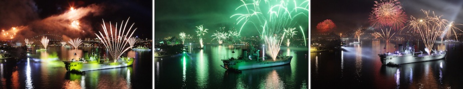 HMAS Tobruk played an integral role in the Pyrotechnics Display and Lightshow Spectacular as part of the Royal Australian Navy's International Fleet Review (IFR) 2013.